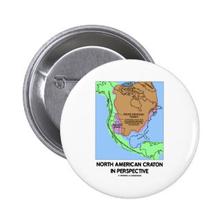 North American Craton In Perspective Button