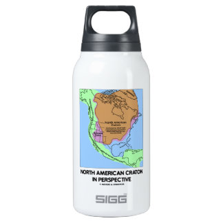 North American Craton In Perspective Insulated Water Bottle