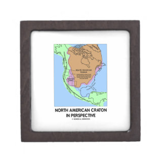 North American Craton In Perspective Keepsake Box