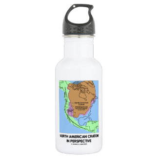 North American Craton In Perspective 18oz Water Bottle