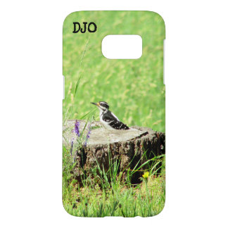 North American Downy Woodpecker your initials Samsung Galaxy S7 Case