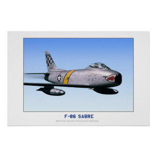 North American F-86 Sabre Poster