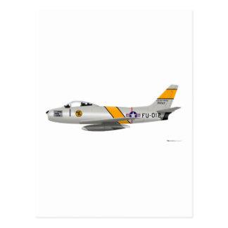North American F-86A Sabre Postcard