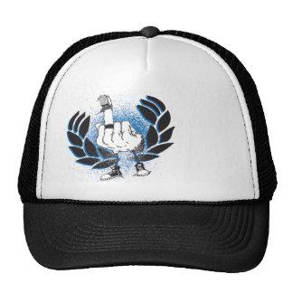 North American Flipping Bird Crest Trucker Hats