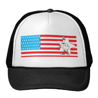 North American Flipping Bird Foreign Policy Trucker Hat