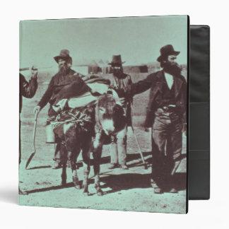 North American gold diggers, c.1849 (b/w photo) 3 Ring Binder