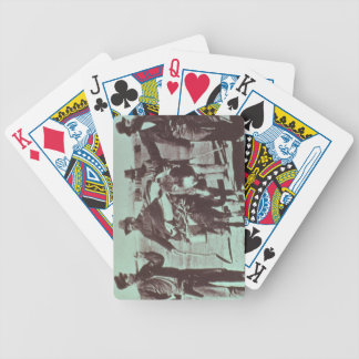 North American gold diggers, c.1849 (b/w photo) Bicycle Playing Cards