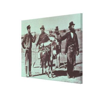 North American gold diggers, c.1849 (b/w photo) Canvas Print