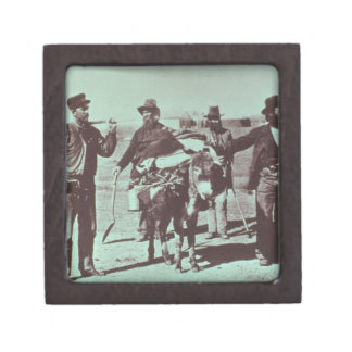 North American gold diggers, c.1849 (b/w photo) Keepsake Box