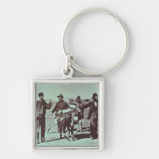 North American gold diggers, c.1849 (b/w photo) Keychain