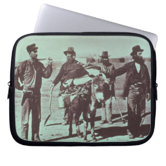 North American gold diggers, c.1849 (b/w photo) Laptop Sleeve