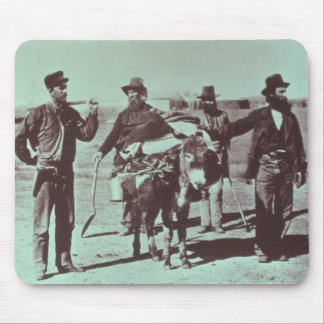North American gold diggers, c.1849 (b/w photo) Mouse Pad