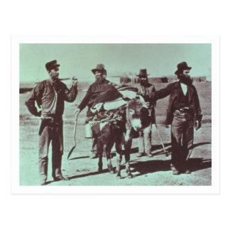 North American gold diggers, c.1849 (b/w photo) Postcard