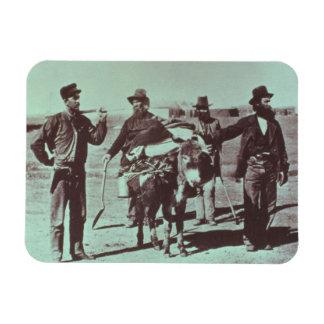 North American gold diggers, c.1849 (b/w photo) Rectangular Photo Magnet