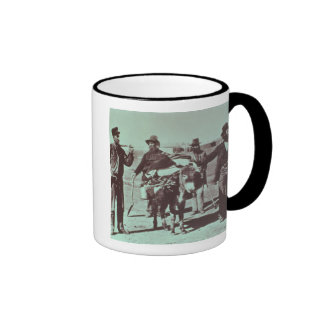 North American gold diggers, c.1849 (b/w photo) Ringer Mug