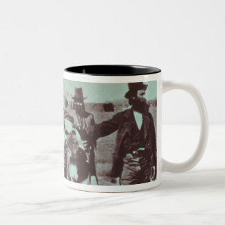 North American gold diggers, c.1849 (b/w photo) Two-Tone Coffee Mug
