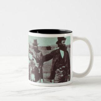 North American gold diggers, c.1849 (b/w photo) Two-Tone Coffee Mug
