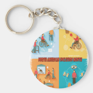 North American Inclusion Month - Appreciation Day Keychain