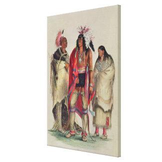 North American Indians, c.1832 Canvas Print