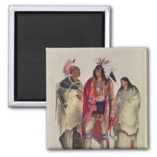 North American Indians, c.1832 Magnet