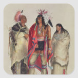 North American Indians, c.1832 Square Sticker