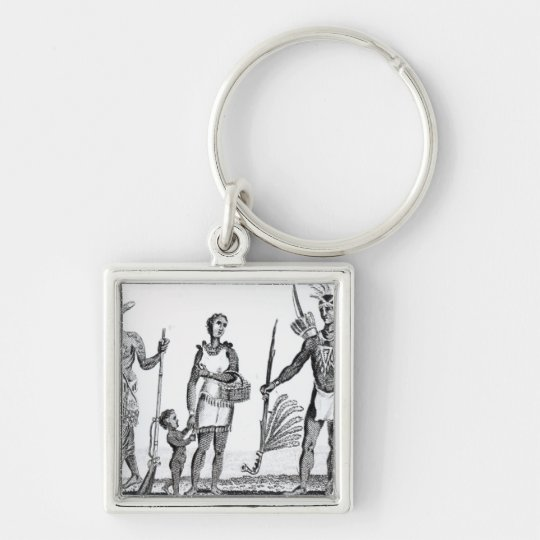 North American Indians Keychain