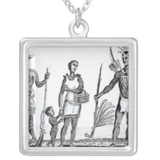 North American Indians Silver Plated Necklace