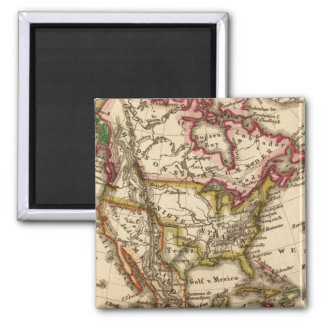 North American Map 2 Magnets
