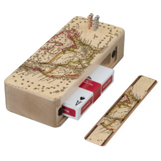North American Map 2 Wood Cribbage Board