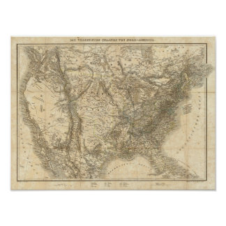 North American Map Poster