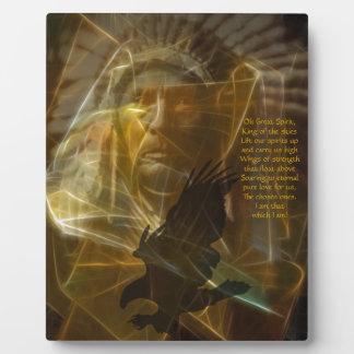 North American Native Indian Prayer Plaque