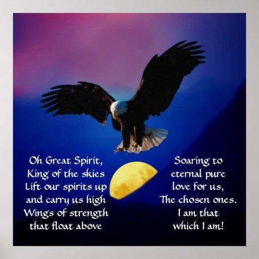 North American Native Indian Prayer Poster