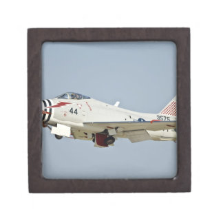 North American Naval FJ2 Fury Jet Fighter flying Keepsake Box