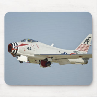 North American Naval FJ2 Fury Jet Fighter flying Mouse Pad
