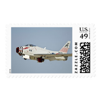 North American Naval FJ2 Fury Jet Fighter flying Postage