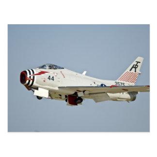North American Naval FJ2 Fury Jet Fighter flying Postcard