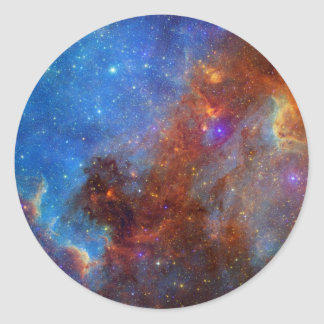 North American Nebula continent NASA Classic Round Sticker