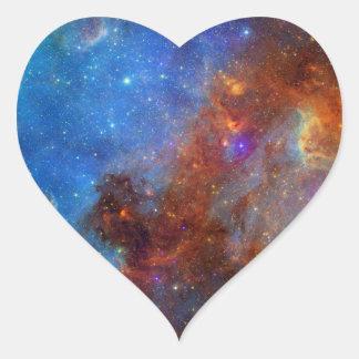 North American Nebula Heart Sticker