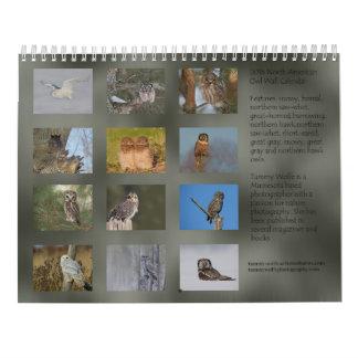 North American Owls 2016 Wall Calendar