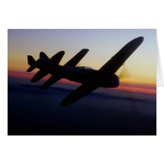 """North American P-1 """"Mustang"""" and Republic P-47 """"Th Greeting Card"""
