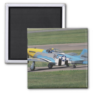 North American P-51 D Dazzling Donna on the 2 Inch Square Magnet