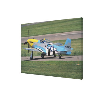 North American P-51 D Dazzling Donna on the Canvas Print