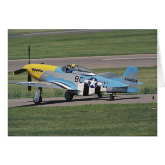 North American P-51 D Dazzling Donna on the Card