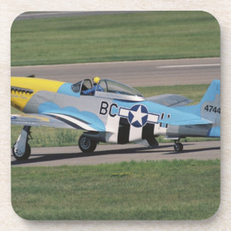 North American P-51 D Dazzling Donna on the Drink Coaster