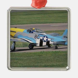 North American P-51 D Dazzling Donna on the Metal Ornament