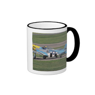 North American P-51 D Dazzling Donna on the Ringer Coffee Mug