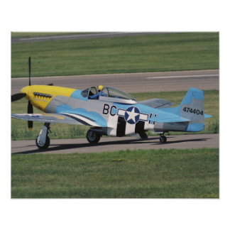 North American P-51 D Dazzling Donna on the Poster