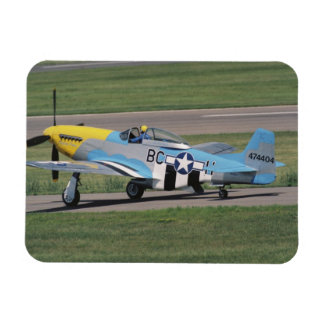 North American P-51 D Dazzling Donna on the Rectangular Photo Magnet