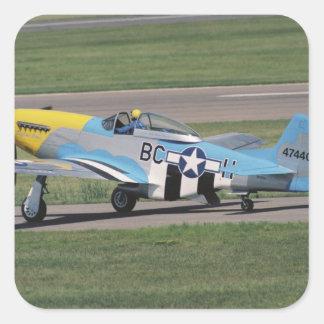 North American P-51 D Dazzling Donna on the Square Sticker