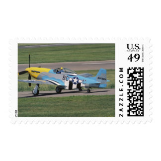 North American P-51 D Dazzling Donna on the Stamps